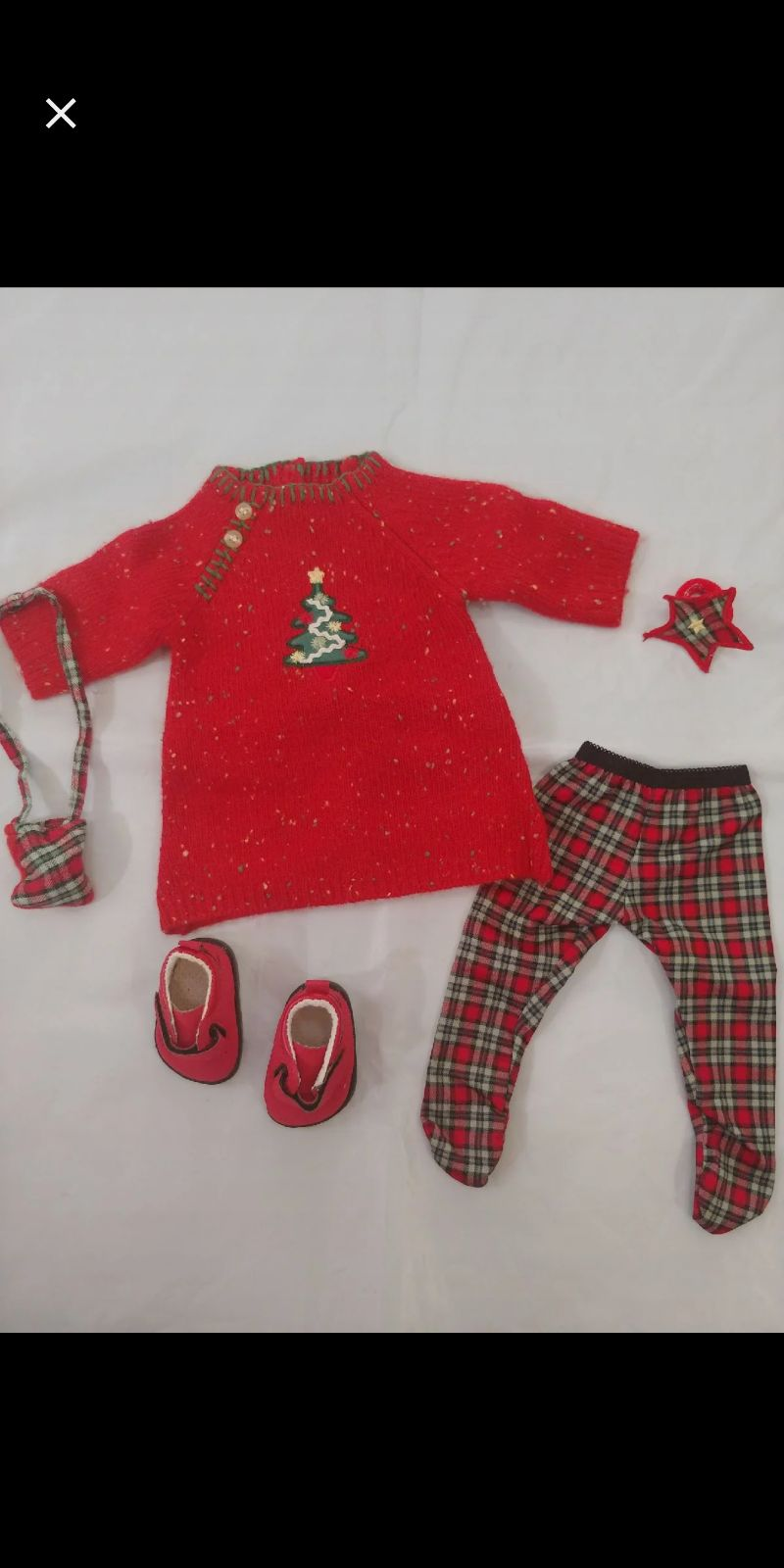 Bitty Baby Twin Girl Festive Plaid Outfi