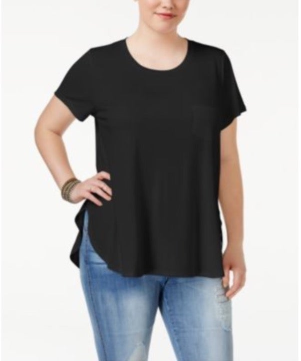Celebrity Pink Trendy Plus Size Black 2X
