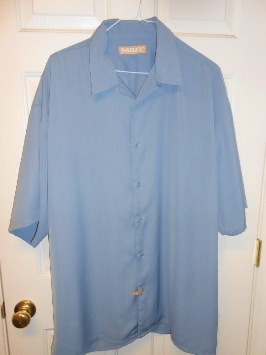 Inserch Men's button SS blue shirt 3XL