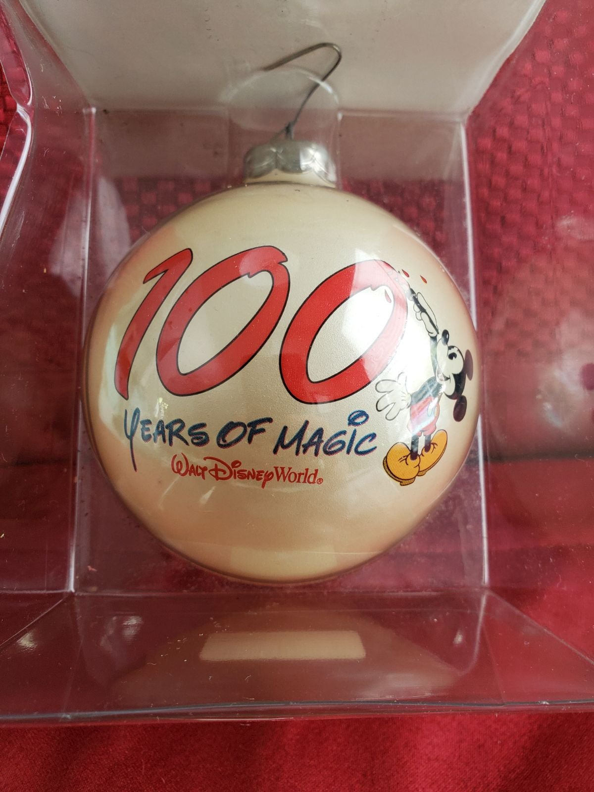 100 years or Magic Disney Glass Ornament