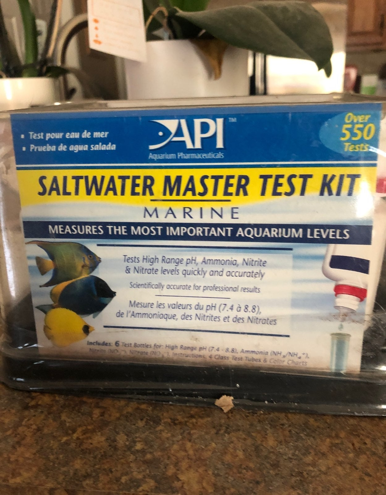 API Saltwater Master Test Kit PH Ammonia