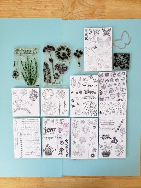Stamps - Flowers, Butterflies, Sentiment