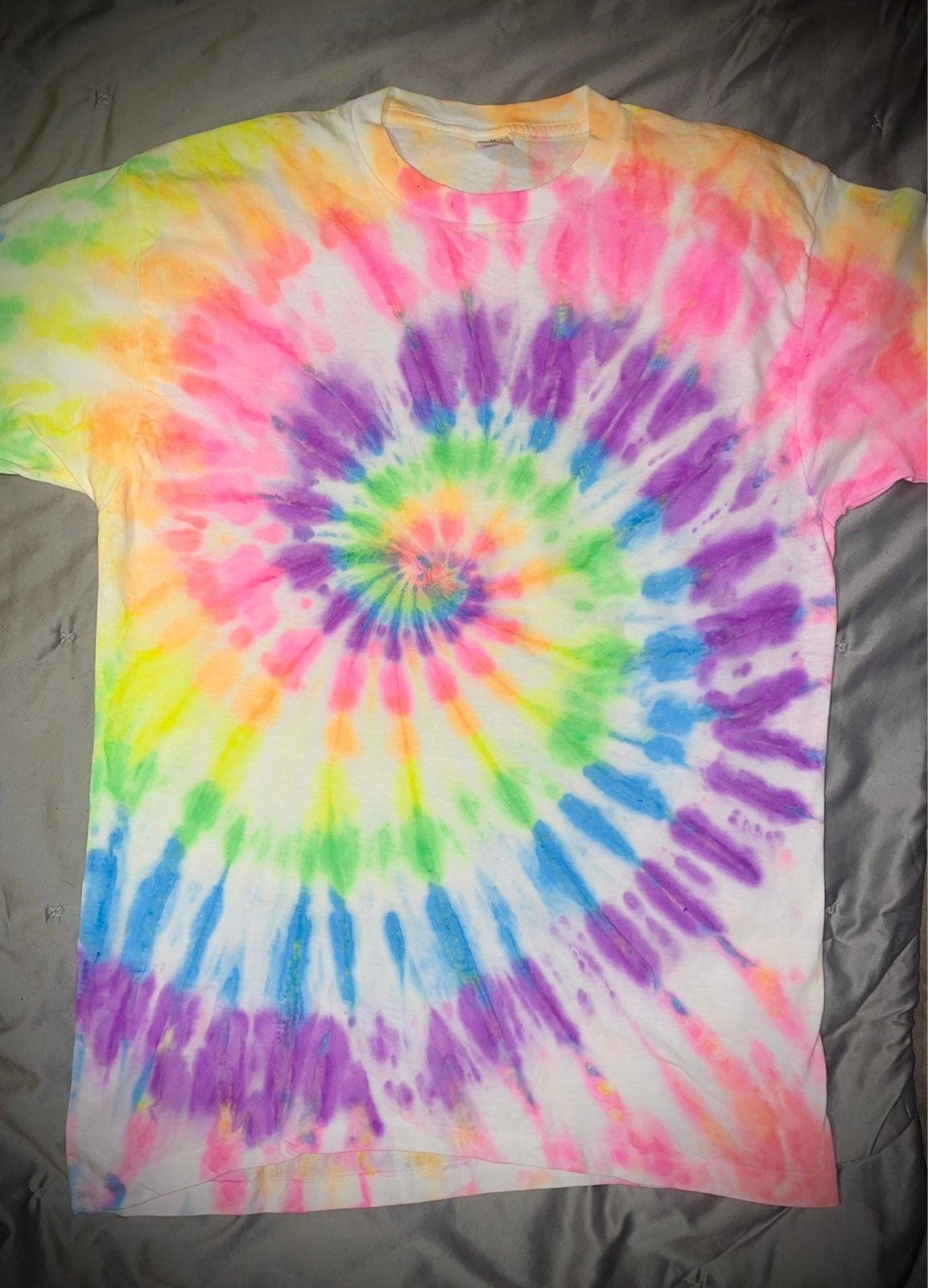 Large neon tyedye shirt