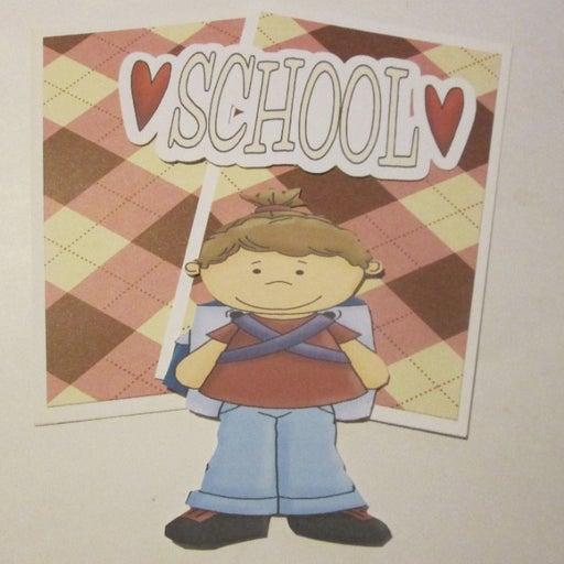 School Girl d- Scrapbook or Card Set