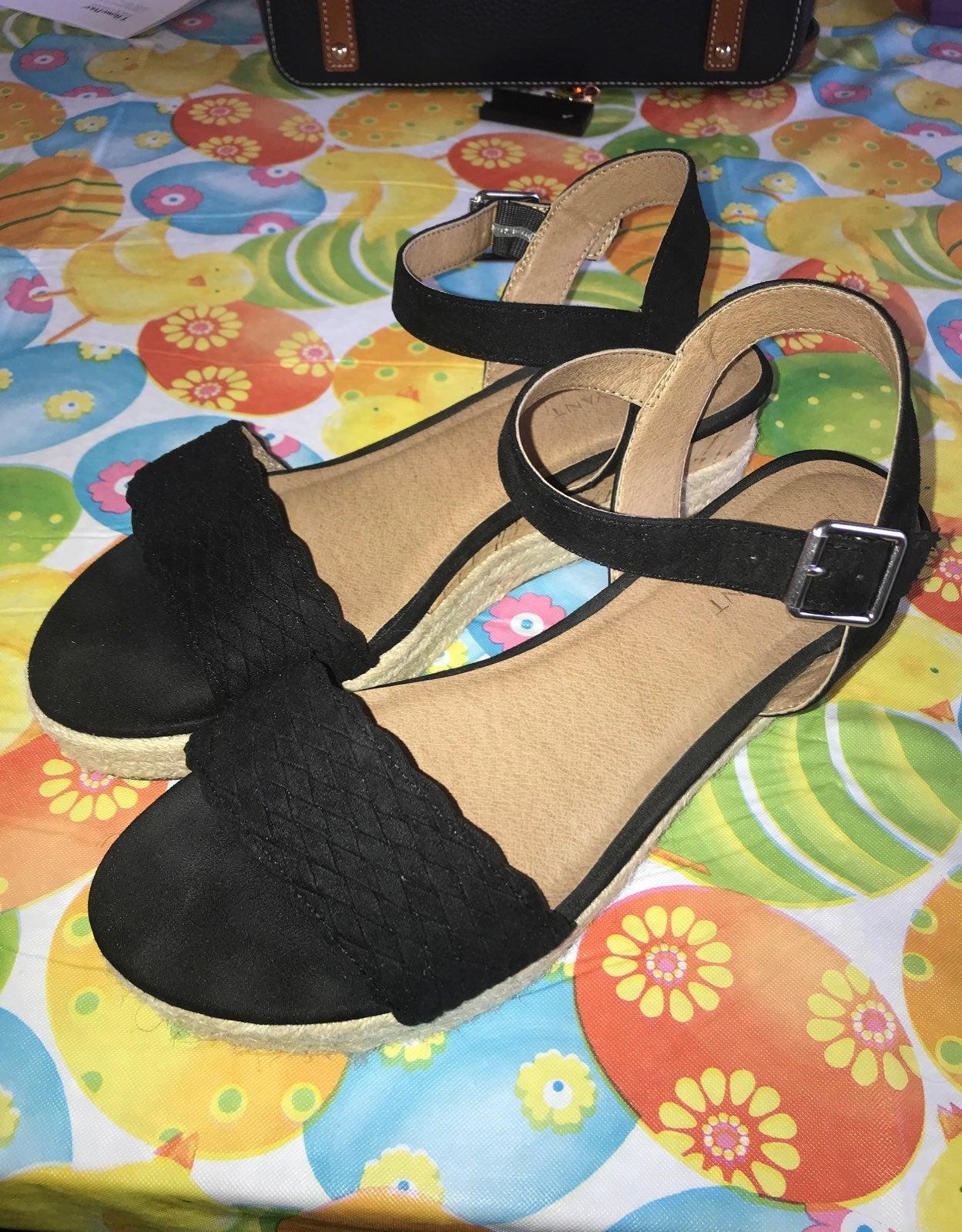 LB Woven Espadrille Wedge Sandal