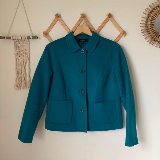 Talbots Teal Wool Coat