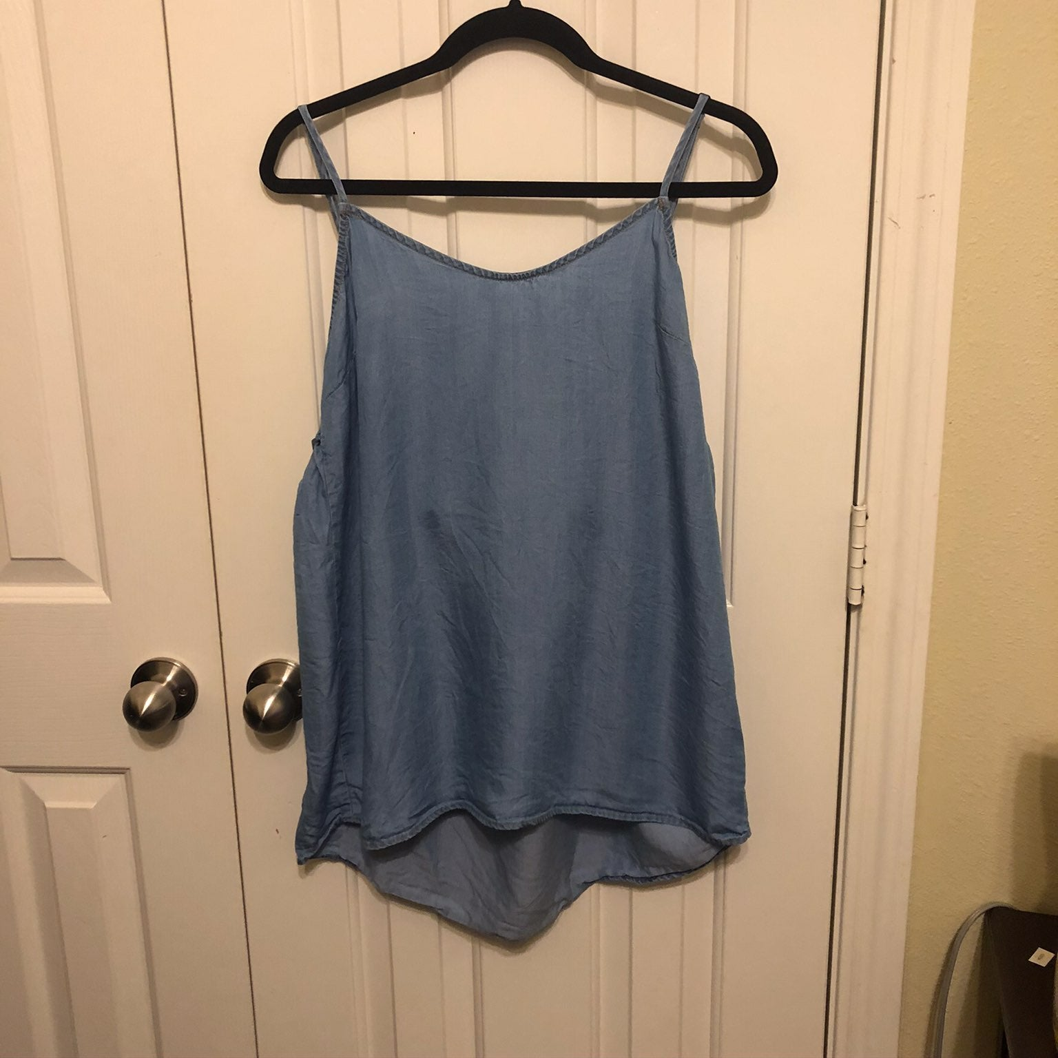 The impeccable pig chambray tank
