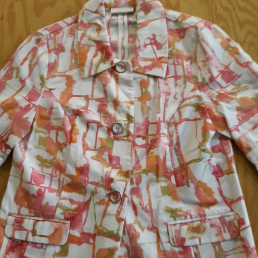 Chicos cotton  jacket  white/ pink print