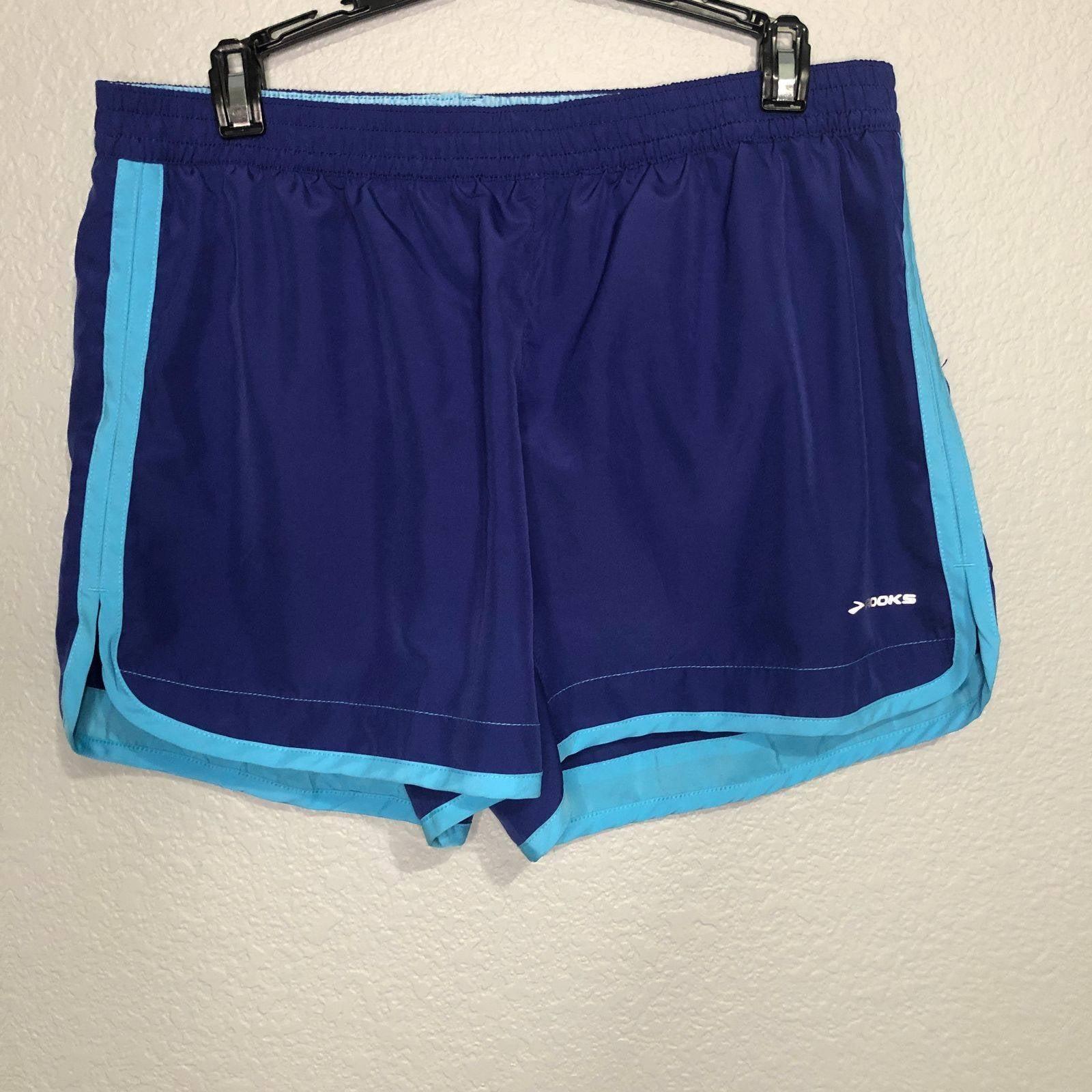 Brooks women's running blue shorts Large