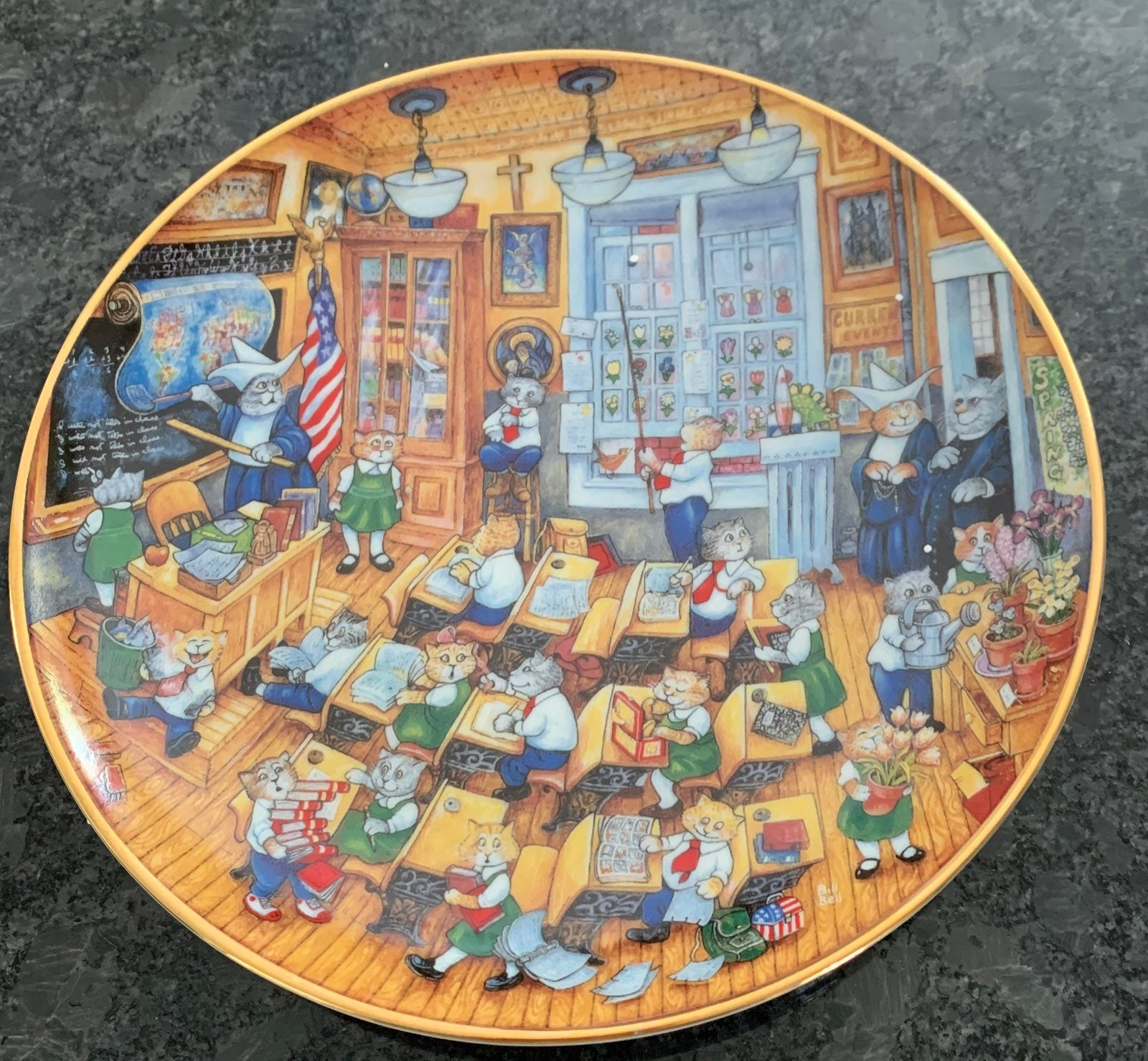 Bill Bell Collectible cat plate