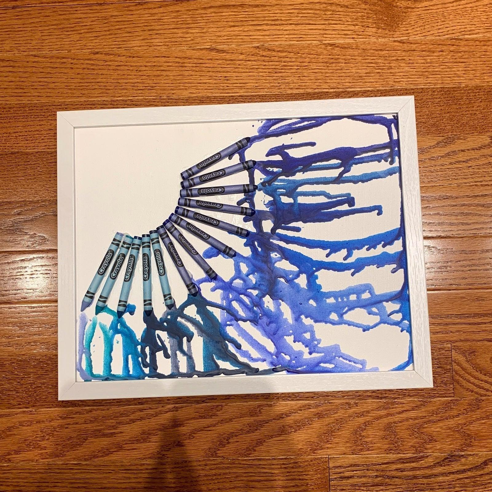 Unframed 11x14 Melted Crayola Art