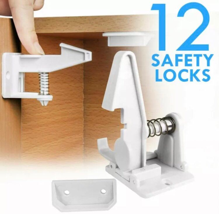 New 12 Pack Cabinet Locks Child Safety L