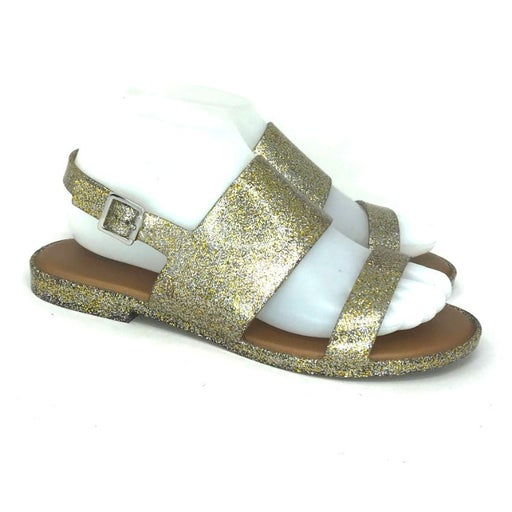 Report Womens Gold Slingback Sandals