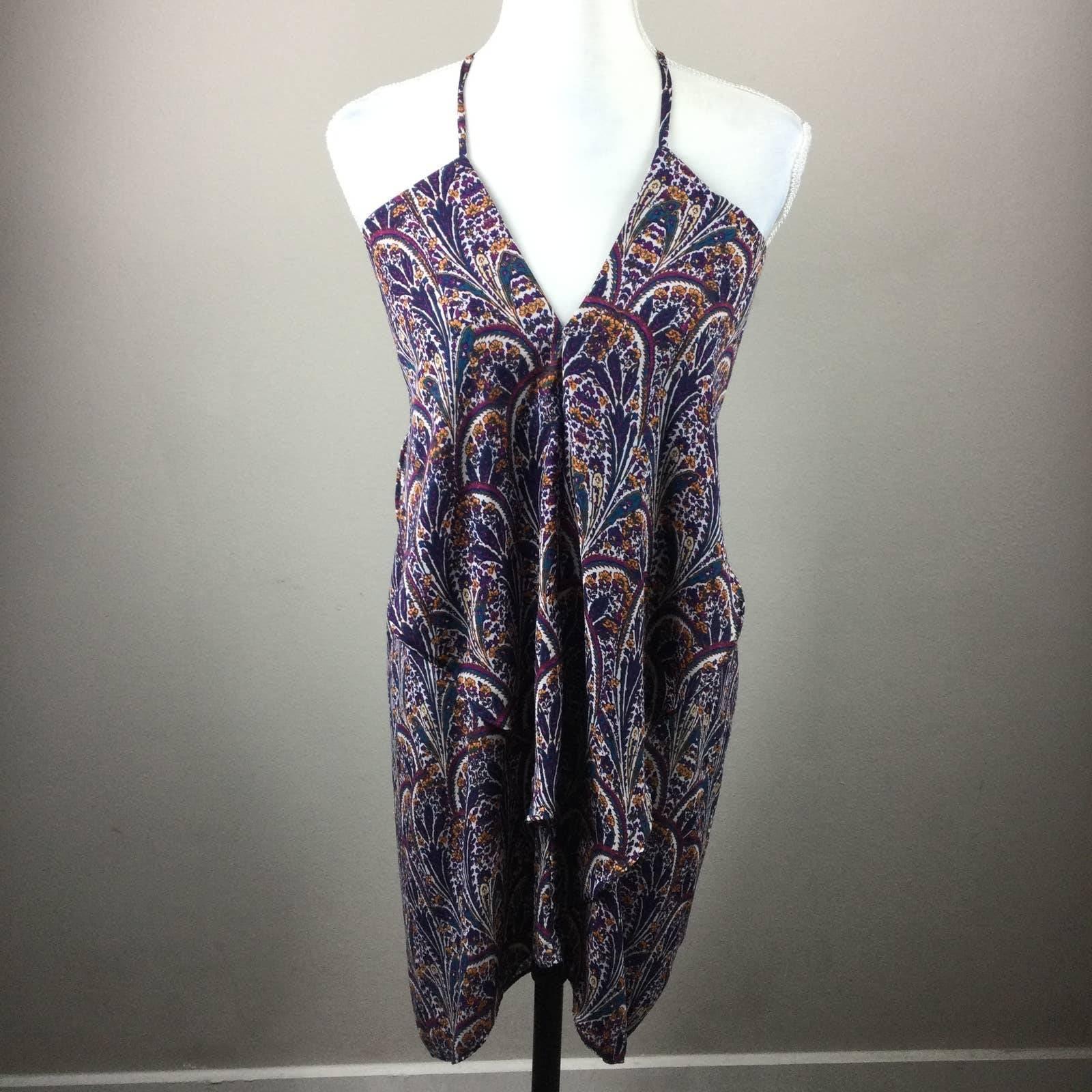 Olivaceous V Neck Floral Tank Dress