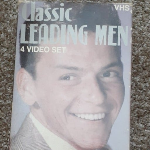 CLASSIC LEADING MEN 4 VIDEO SET VHS