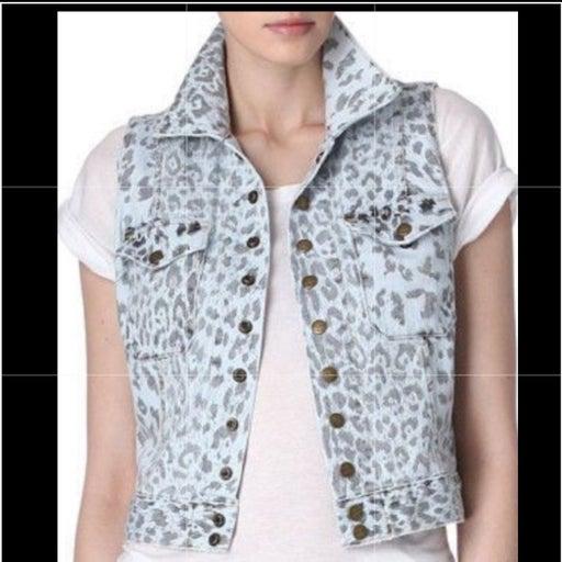 Current Elliott Leopard Print Vest Small