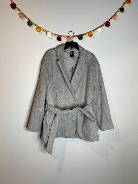 Gap grey wool blend winter coat