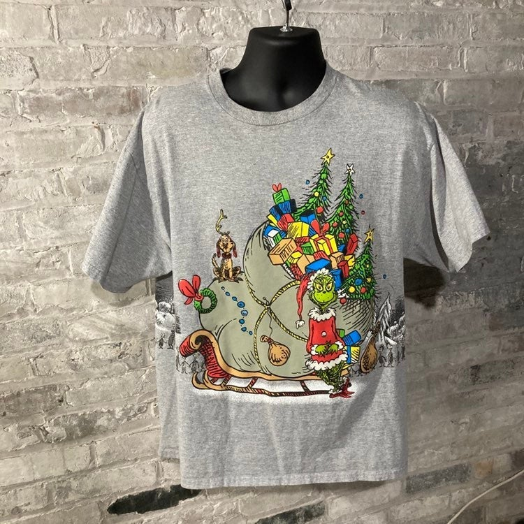 Vintage The Grinch All Over Print Tshirt