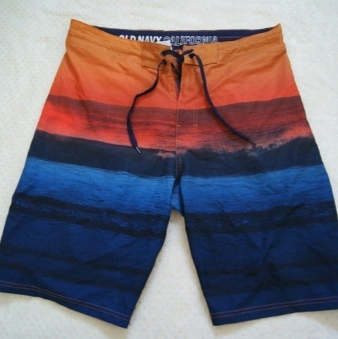 "Mens Board Shorts 32"" Waist Old Navy"