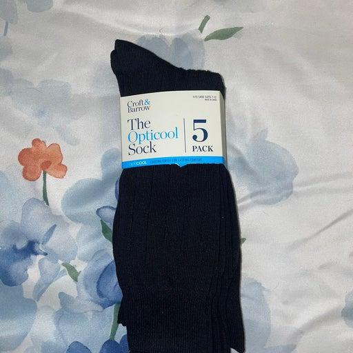 Large Black Mid Calf Socks