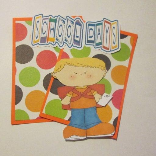 School Days Boy e - Scrapbook or Card Set