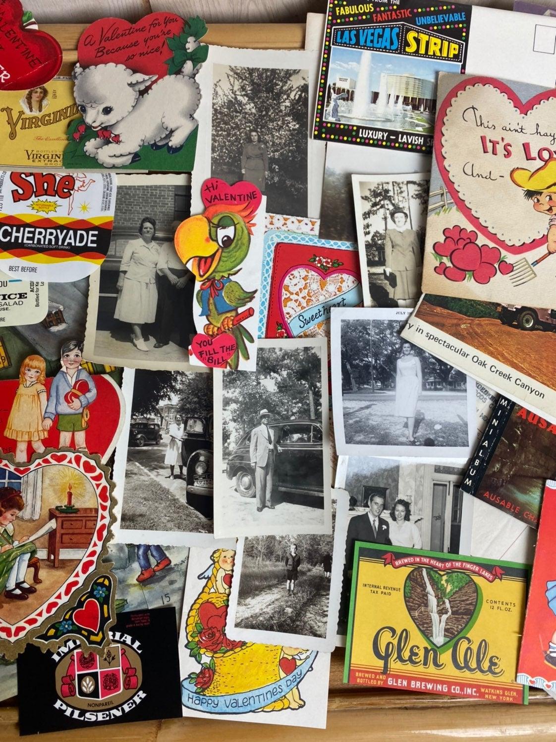 Vintage ephemera lot photos valentines