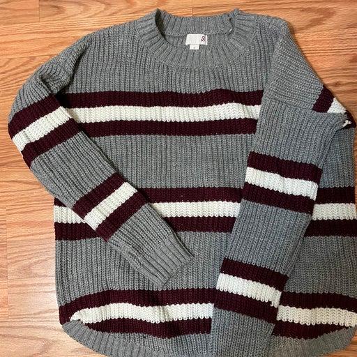 Small Grey stripe sweater