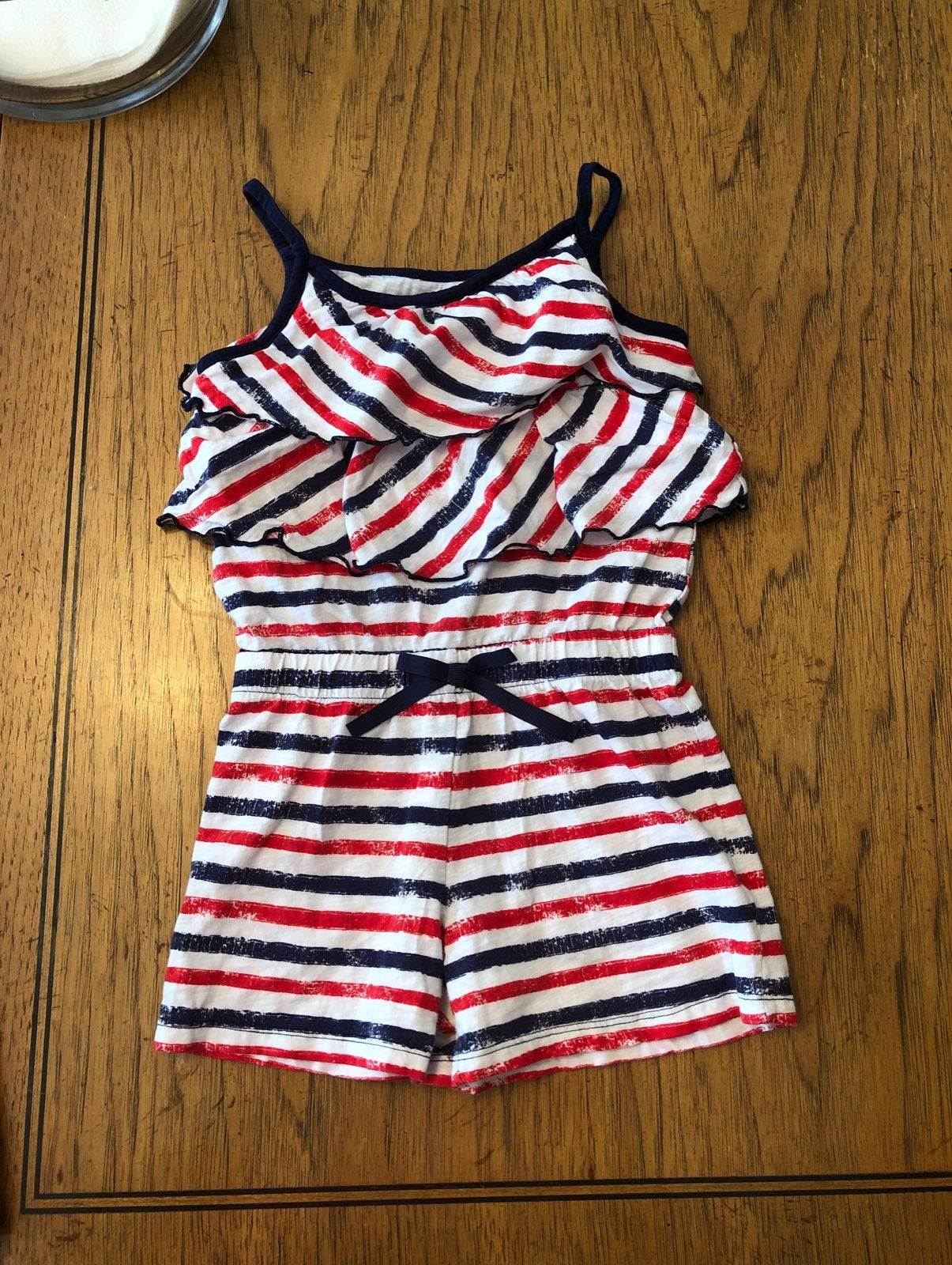 Red white and blue romper girls 4T