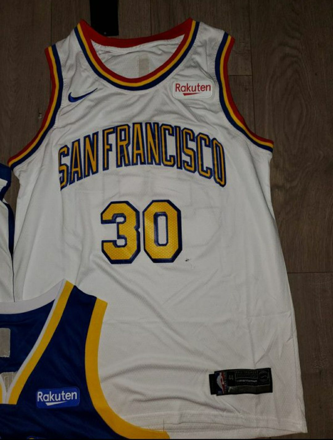 Gold State Warriors Curry Jersey San Fra