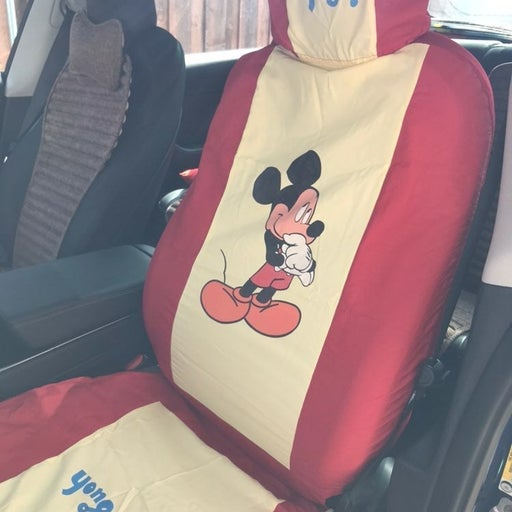 Mickey mouse car seat cover. 1 piece