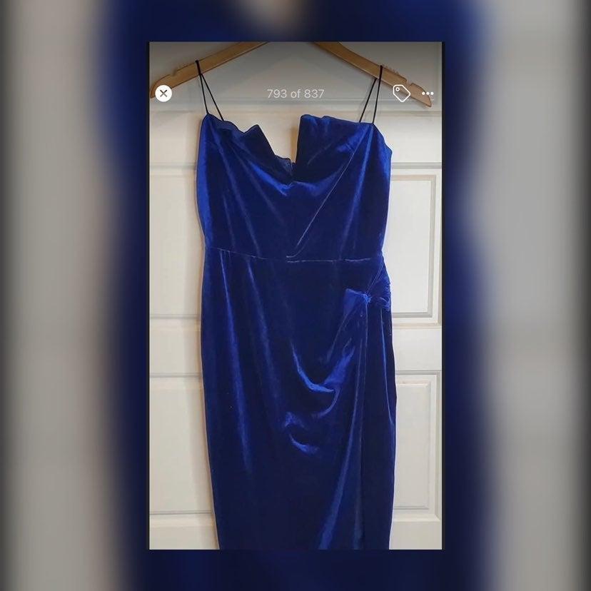 Olivaceous blue velvet dress size medium