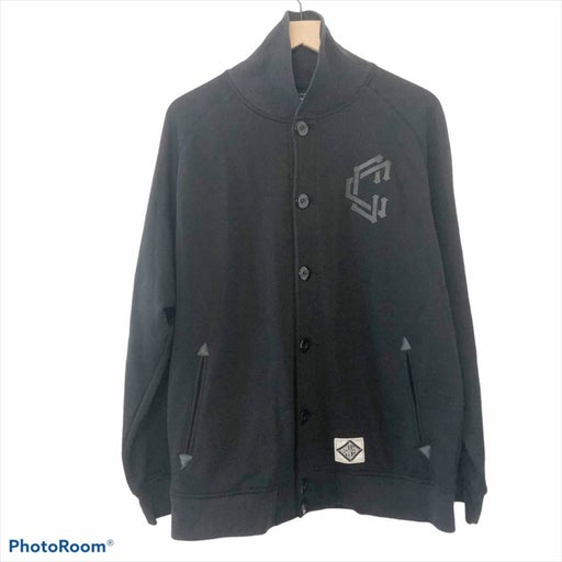 Crooks & Castle black varsity jacket L