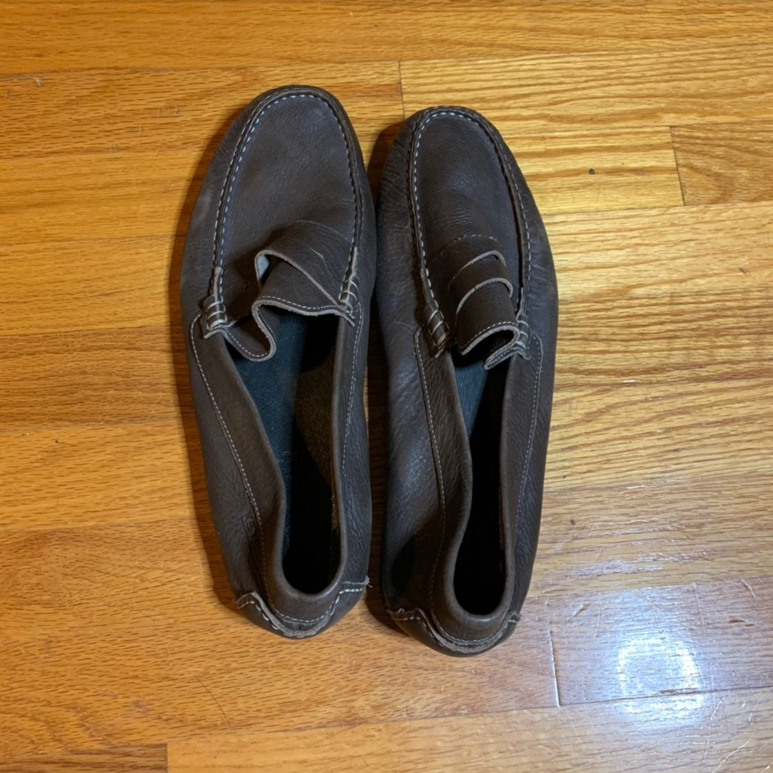 Keys Mens Leather Loafers Size 45