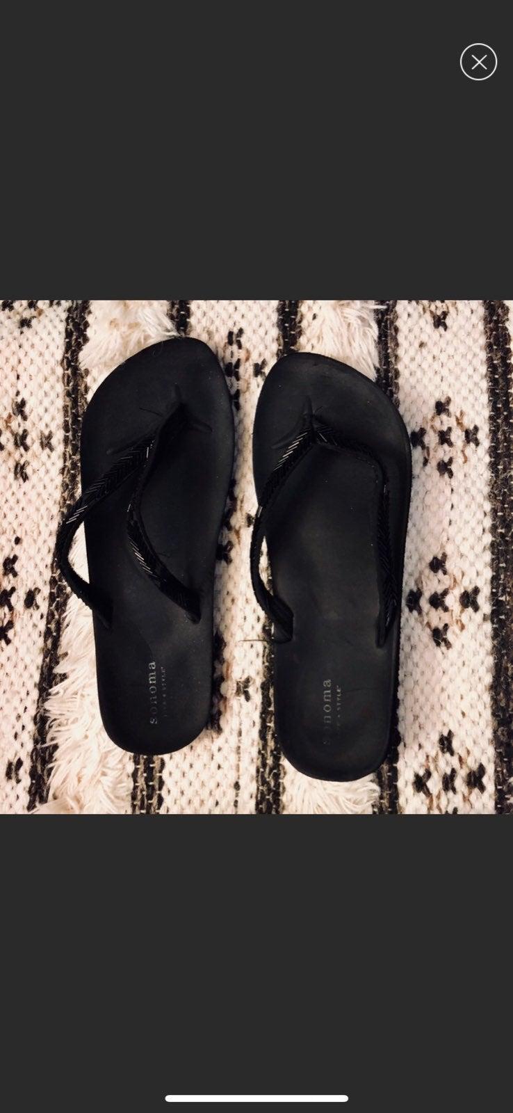 Sonoma beaded flip flops
