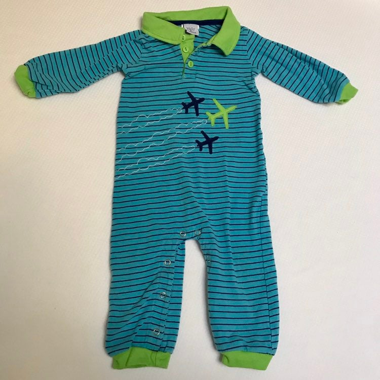 Wally & Willie Airplane Romper