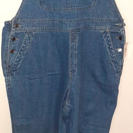 Vintage Denim Overalls Womens Plus Size