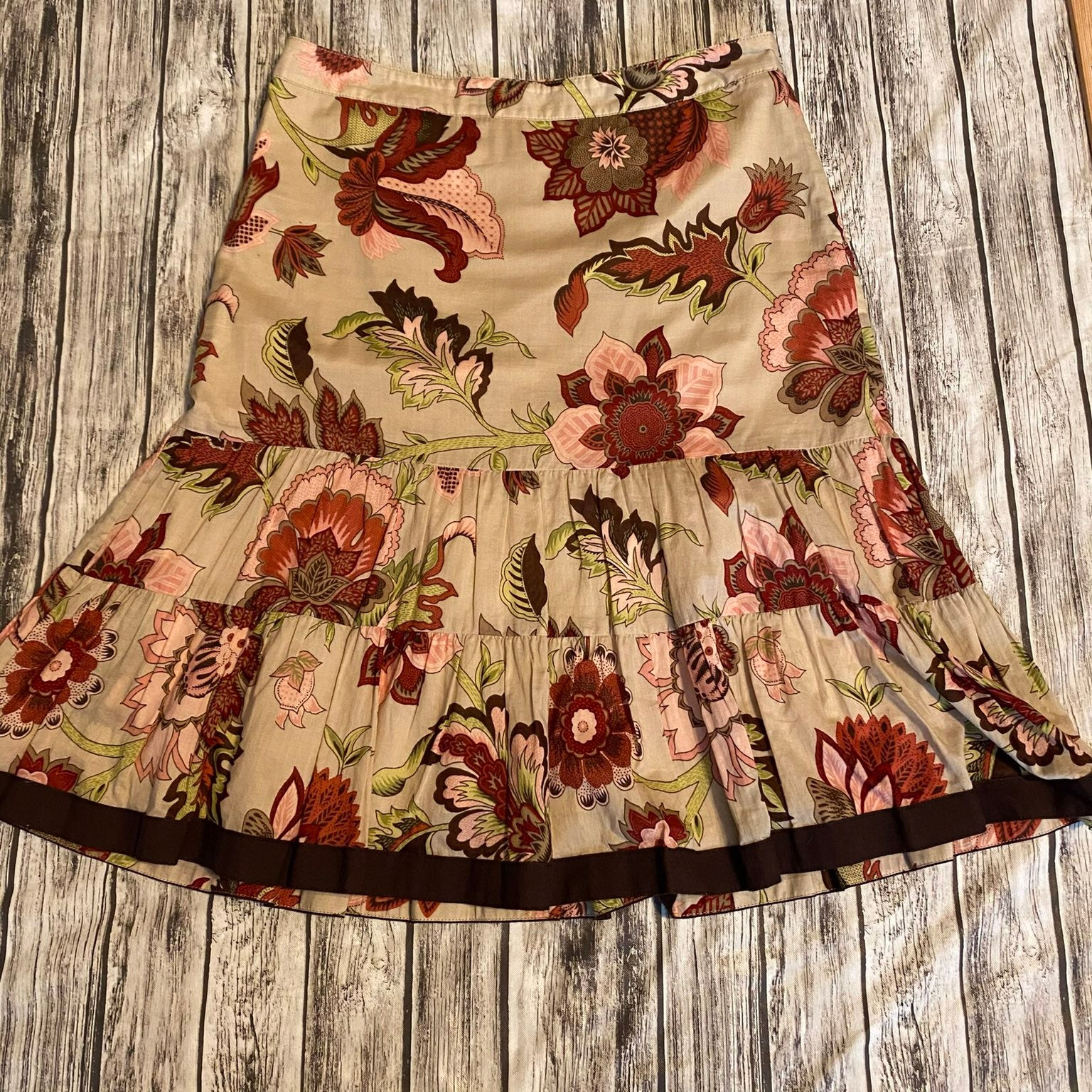 Ann Taylor Petites Floral Full Skirt 4P