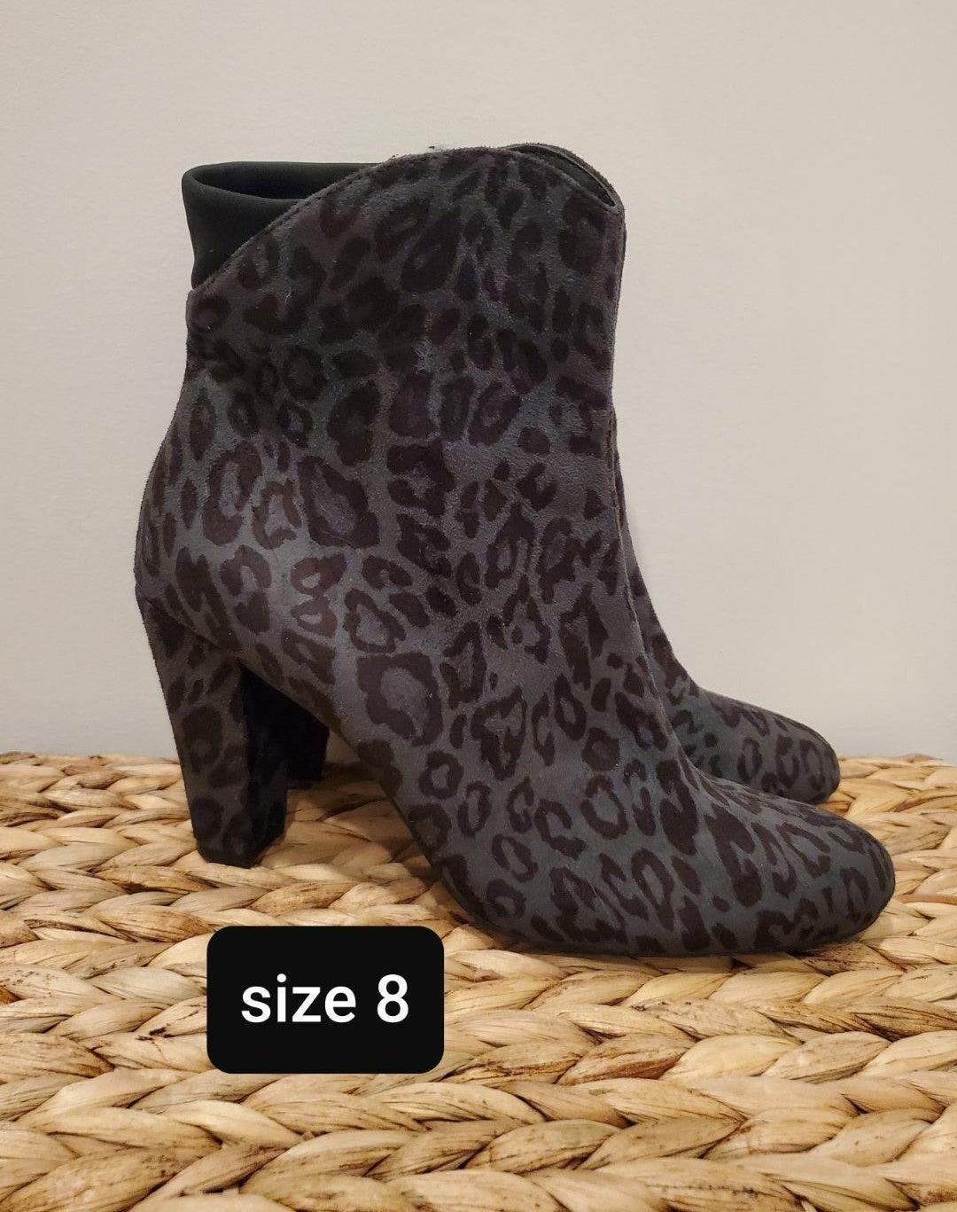 Beautiful Like New Leopard Booties 8