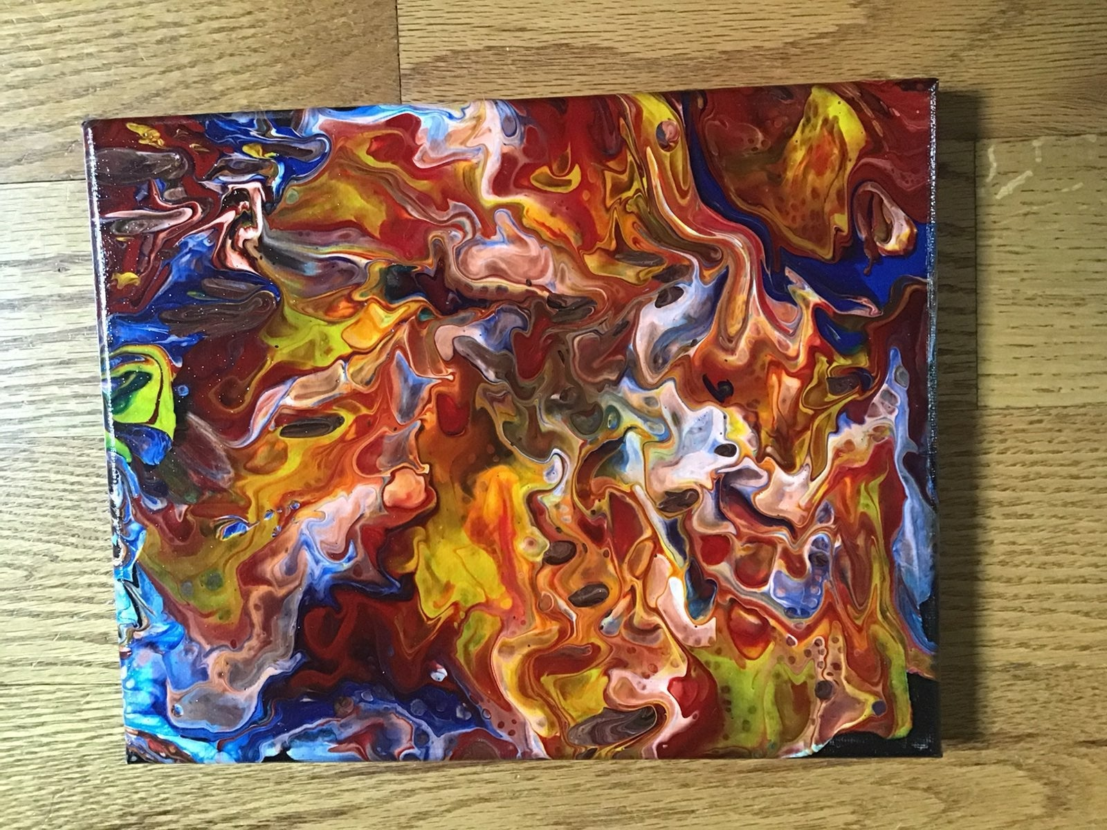 Acrylic Paint Pour Art 8x10 Canvas