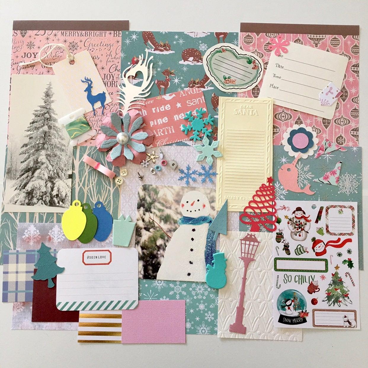 Pink Wonderland Christmas Journal Scrap