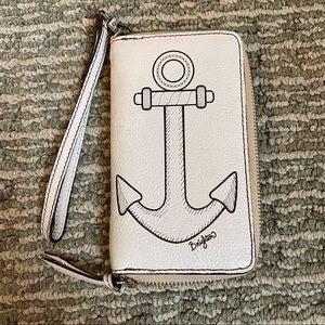 Brighton Anchor White Wristlet