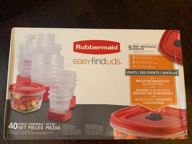 Rubbermaid 40 pc Food Savers Set