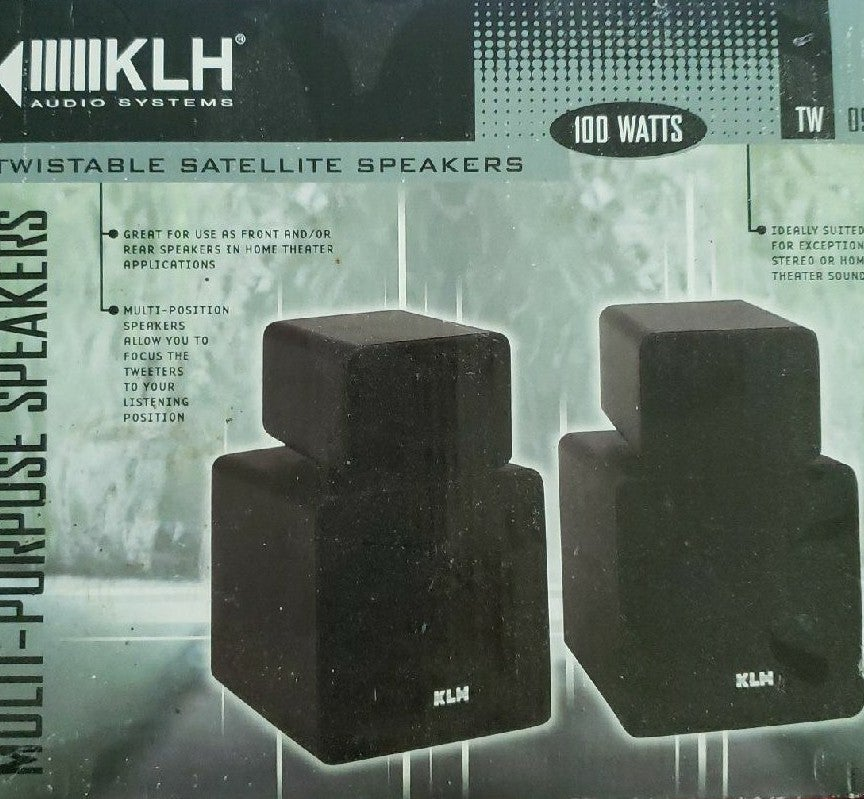 KLH 100 watt bookshelf speakers