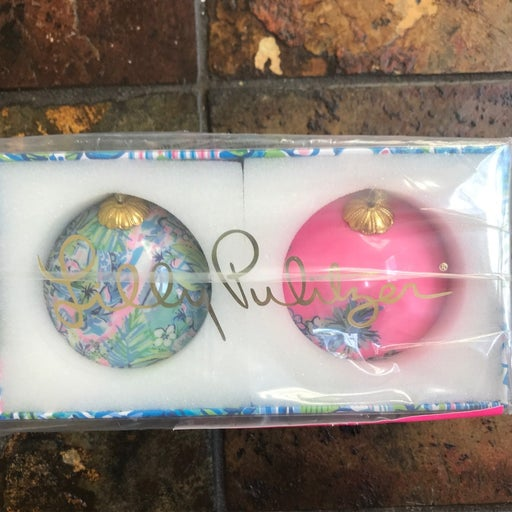 Lilly Pulitzer Christmass Tree Ornaments