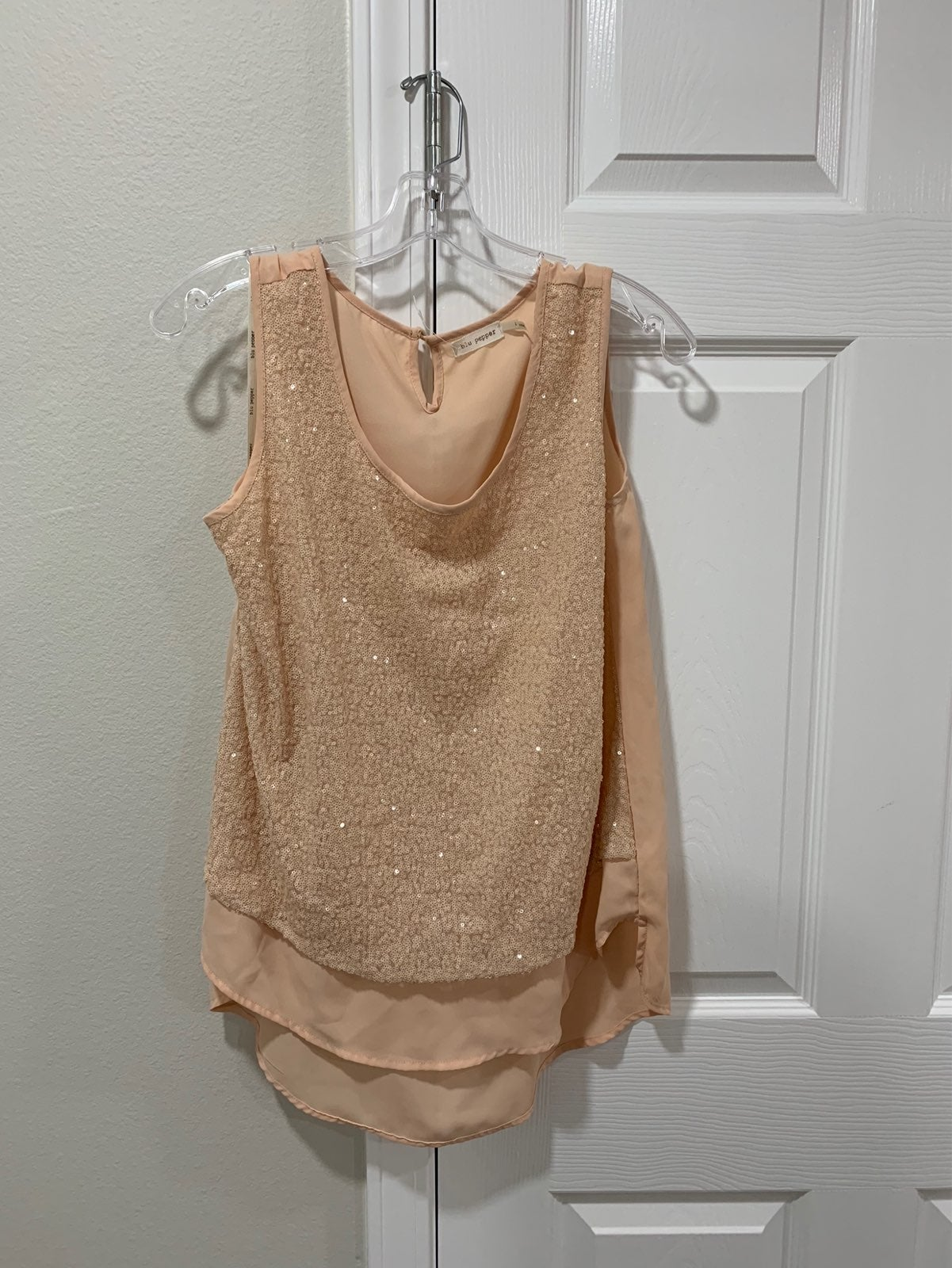 Light Pink Sequenced Top