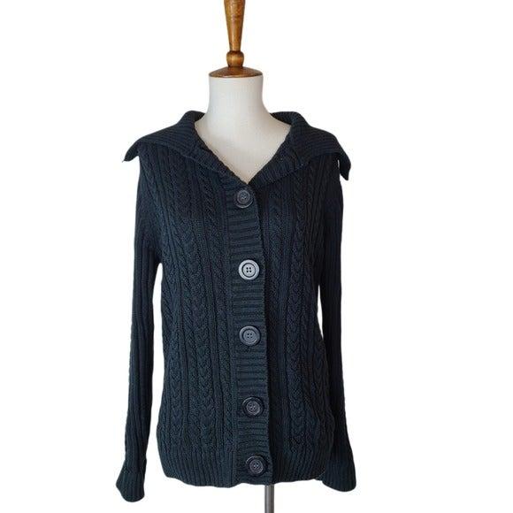 Karen Scott Knit Sweater Cardigan Small
