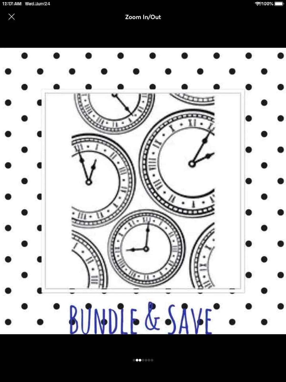 Emb Clock Folder: 4.25 x 5.75 inches