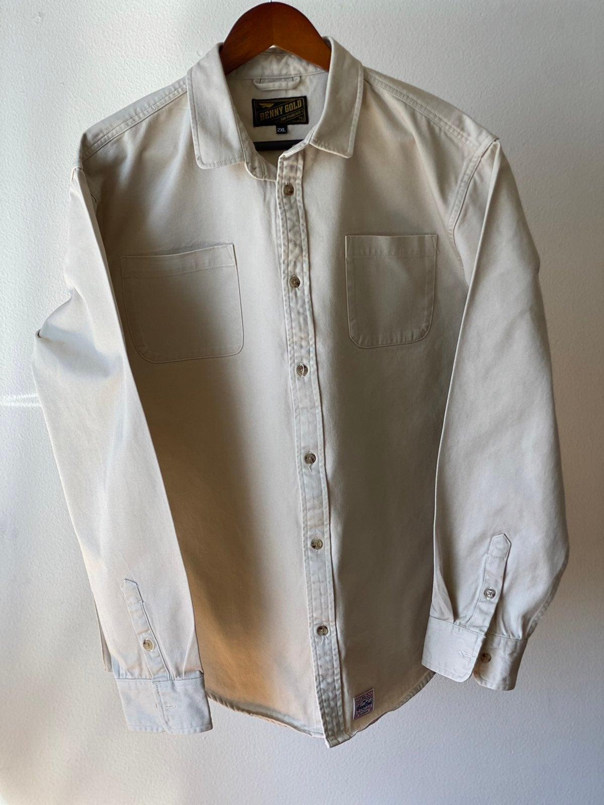 Benny Gold Button Up Work Shirt Sz 2XL