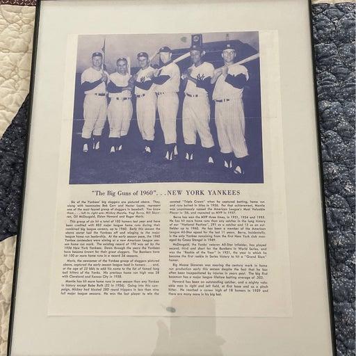 1960 Yankees Big Hitters