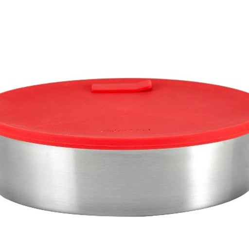 Round Cake Pan with Lid & Divider